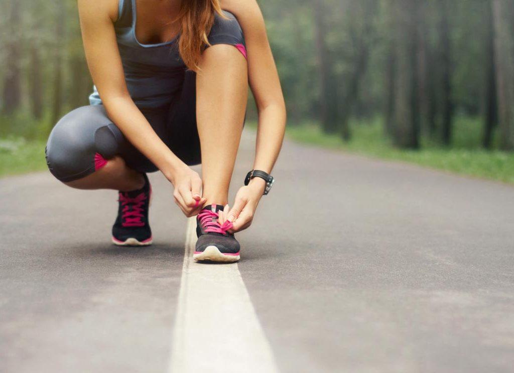 Mujer lista para correr