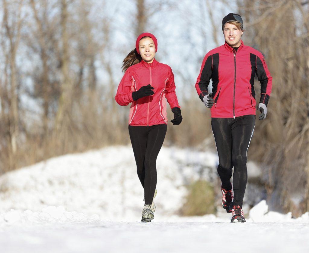corriendo en invierno